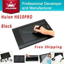 Hot Sale Huion H610 PRO Digital Tablets Kids Pen Tablet Art Drawing Designer Graphics Tablets PC Laptop For Windows Mac OS Black