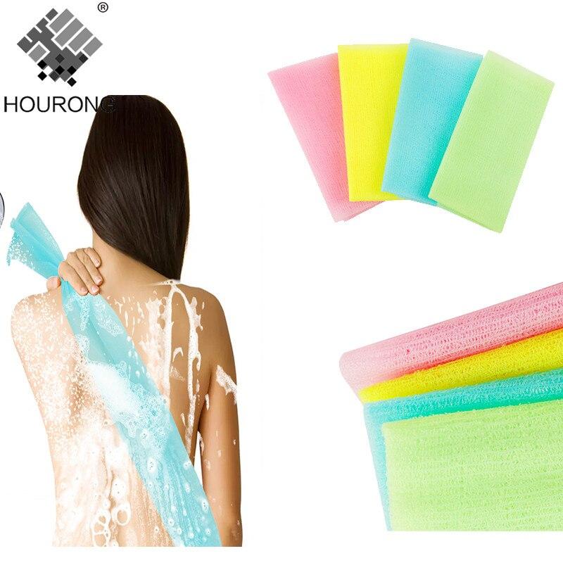 1PC Nylon Mesh Bath Shower Body Washing Clean Exfoliate Puff Scrubbing Towel Cloth Scrubber Soap Bubble For The Bath Like Loofah Пенал