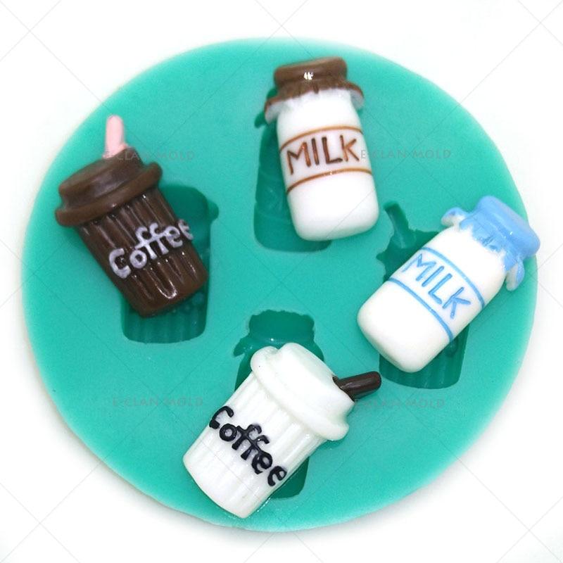 Nuevo café moldes de fondant herramientas de decoración de pasteles dulces de chocolate moldes para hornear pasteles molde de resina dulce F0637CF35