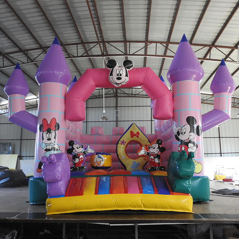Tarpauline Inflatable Camelot Bounce House Mickey Theme/Inflatable Toys For Kids