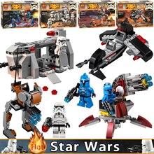4pcs/Set Star Wars Models Building Blocks Marvel Star Wars series bricks assembly DIY toys for children compatible POGO Figure