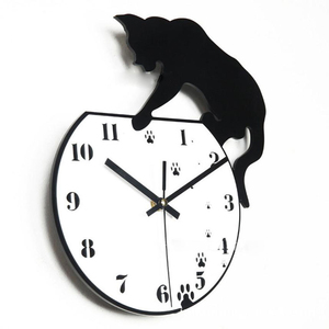 Image 5 - Hot Wall Stickers Wallstickers Cute Footprints Acrylic Clock Modern Home Decor Decoration In Home