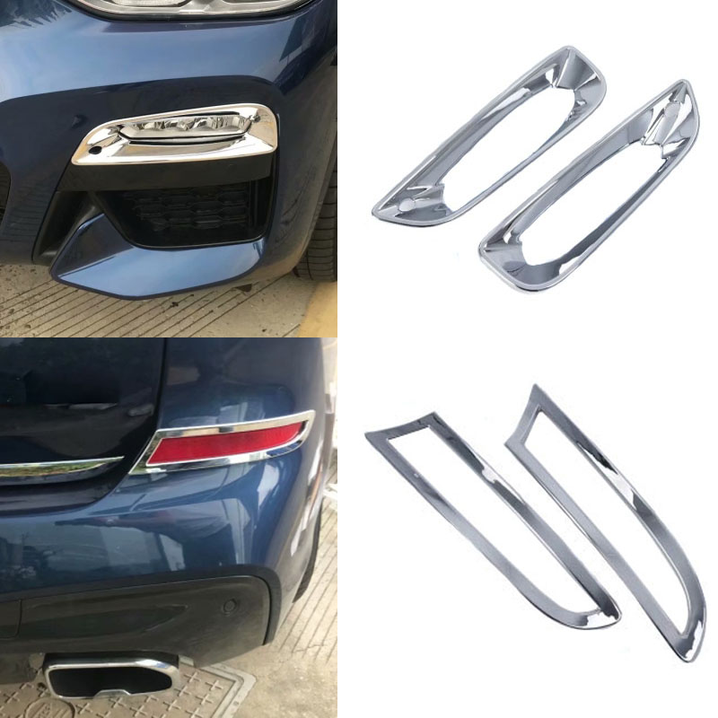 ABS Chrome Rear Fog Light Lamp Cover Trim 2pcs for BMW X3 G01 2018
