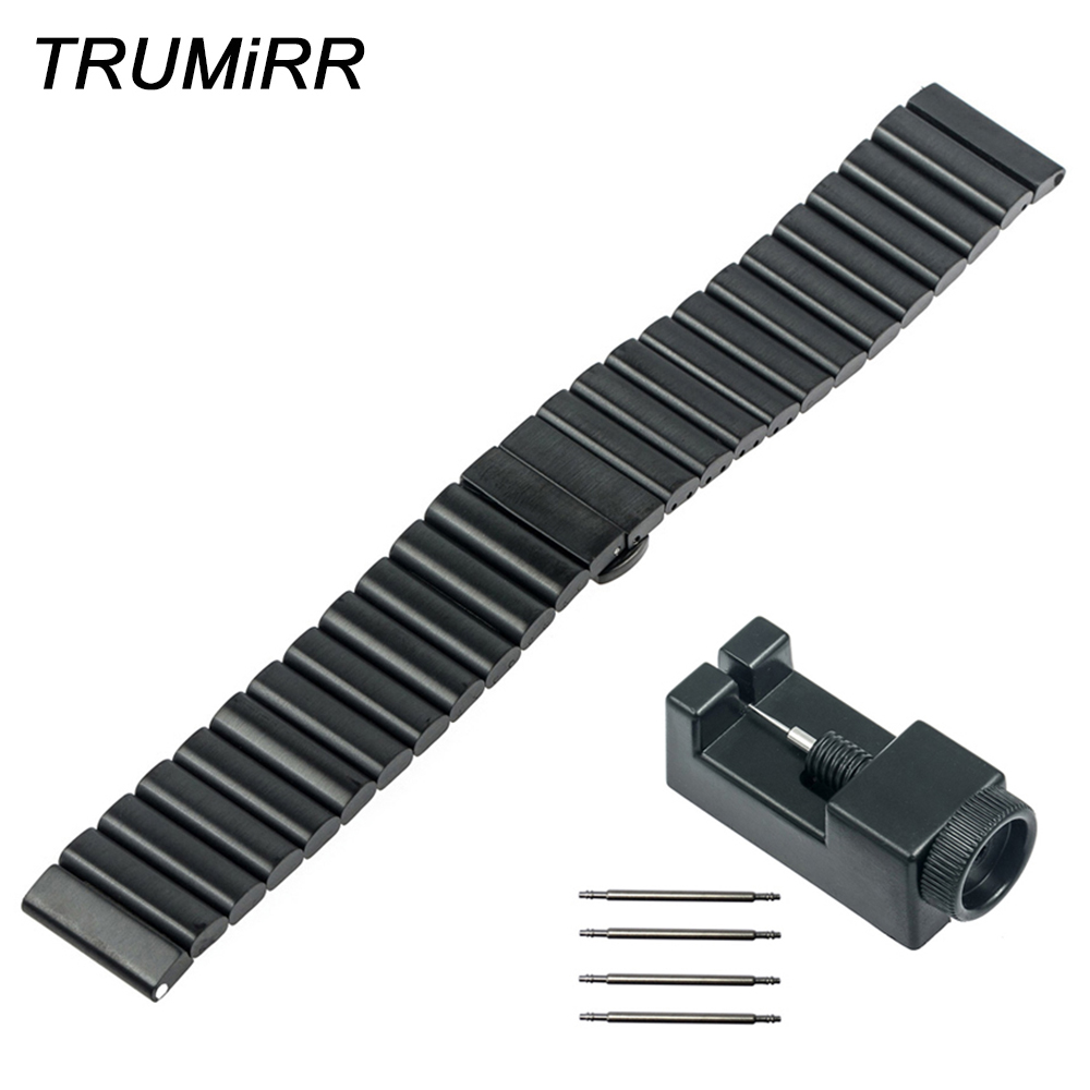 24mm Stainless Steel Watch Band for Sony Smartwatch 2 SW2 Replacement Strap Bracelet with Upgraded Link Removal Tool Spring Bar 24mm silicone rubber watch band for sony smartwatch 2 sw2 replacement watchband strap bracelet with stainless steel clasp buckle