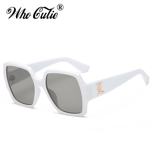 WHO CUTIE 2018 Oversized PINK Transparent Sunglasses Square CRYSTAL Frame Vintage Flat Top Sun Glasses Clear lens Shades OM454