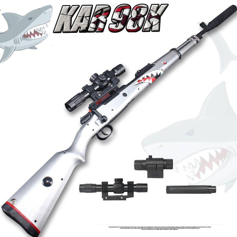 Zhenio juguete KAR98K bola de Gel tirador de bala de agua suave pistola de golpes dardos de patio libre de armas para regalo de Navidad