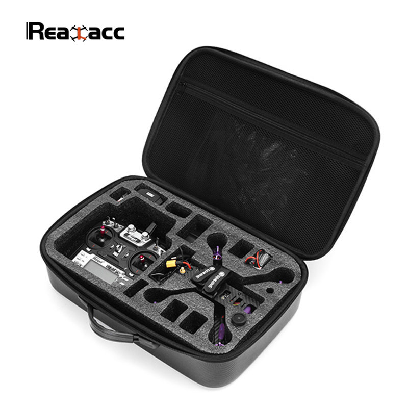 Realacc PVC Handbag Backpack Carrying Bag Case Suitcase Box For Eachine Wizard X220S RC Quadcopter FPV Drone with Sponge 2017waterproof hardshell handbag carry box pouch cover bag case for dji spark quadcopter drone 2 batteries and other accessories