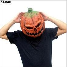 halloween mask pumpkin scarecrow mask creepy latex realistic crazy rubber super creepy party halloween costume pumpkin mask toy