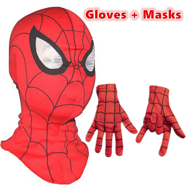 2f179804a6b1 Spiderman mask   Spider-Man Gloves Cosplay Children And Adult Cosplay  Halloween Party Supplies Avengers Carnaval Costume Kids