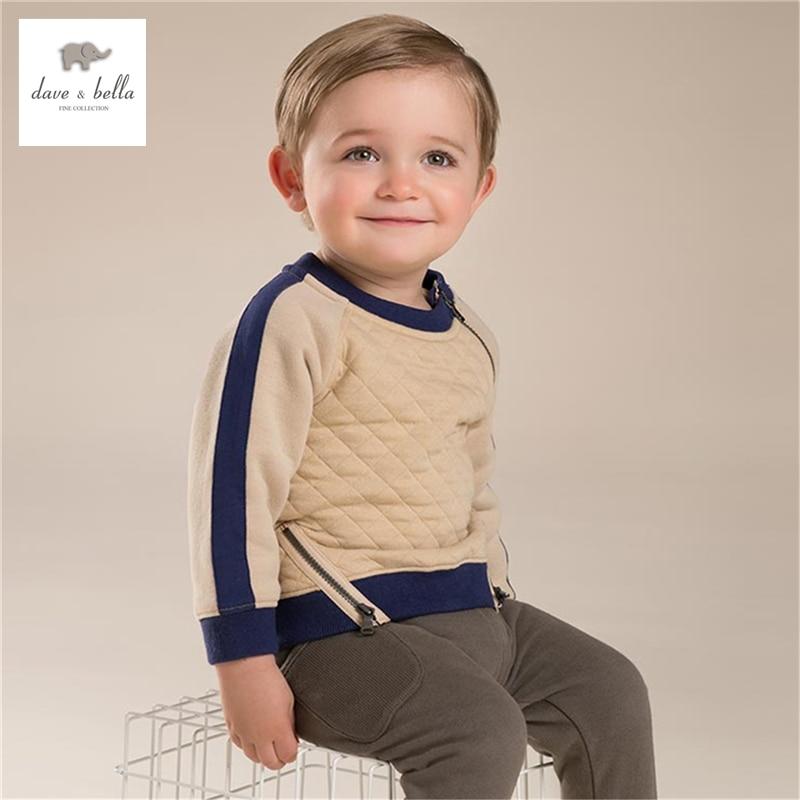 ФОТО DB3833 dave bella autumn fall baby boy apricot  t-shirt padded top