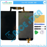 In Stock For HTC Desire 300 LCD Display+Touch Screen Panel Digitizer Assembly Complete Accessories+Track Number+Free Tools