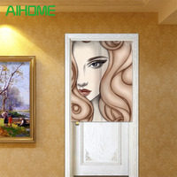 Creative NOREN Curtain Canvas Door Curtains For Kitchen Store Flamingo Sexy Girl Pattern Door Screens 85x100