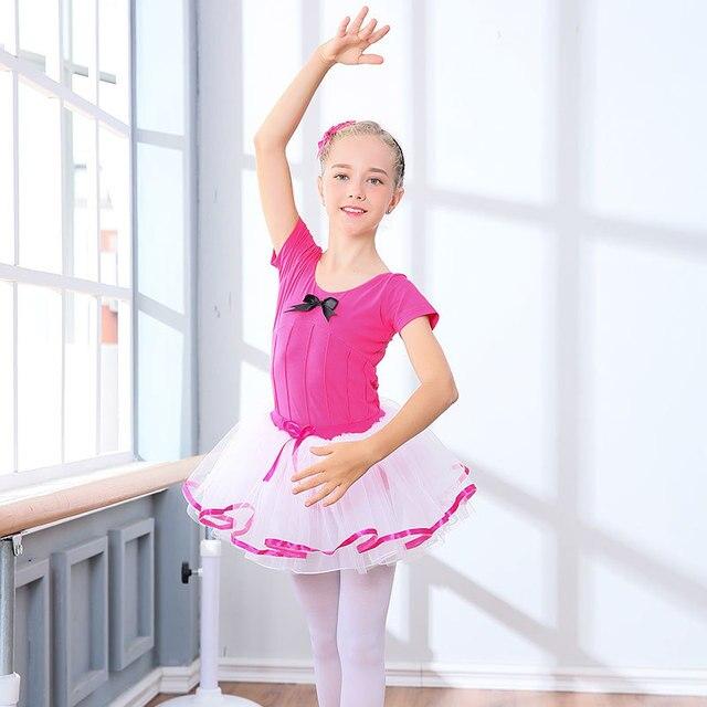 86342b6bea06 2 16Y Girls Ballet Dress Kids Ballet Dance Costume Pink Purple ...