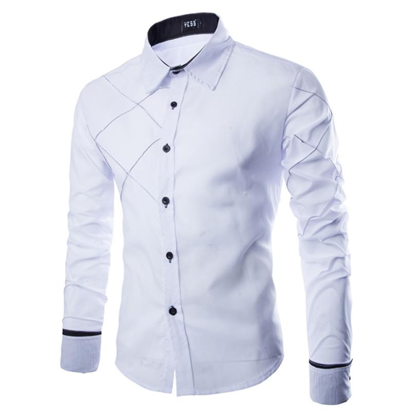 Aliexpress.com : Buy 2017 New Hot Mens Striped Shirt Casual Long ...