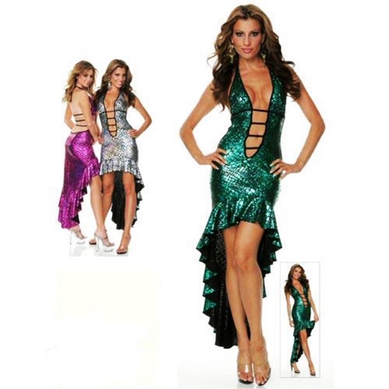 Sexy Sequin Mermaid Dress Halloween Deep Popping Appeal