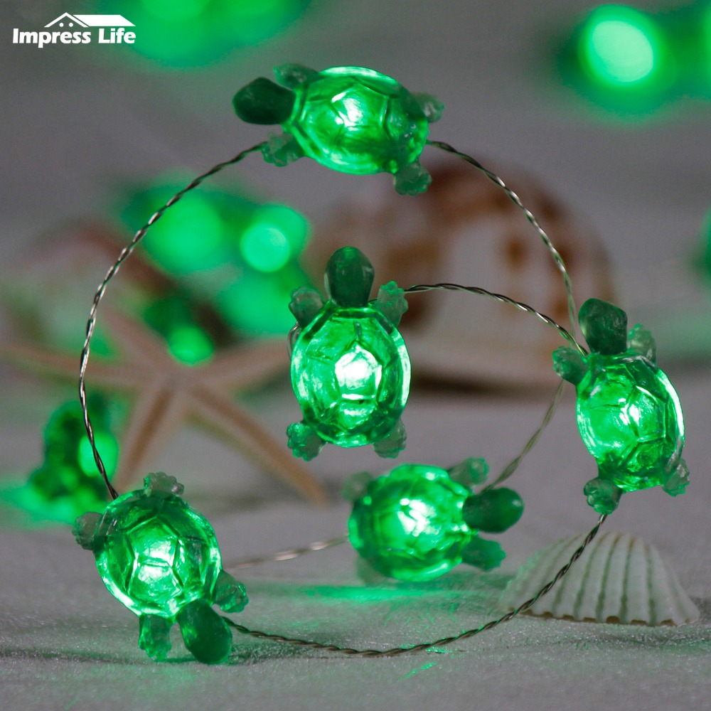 best loved d04a5 80078 Sea Turtles String Lights, 10ft 40LEDs Animals Fairy ...