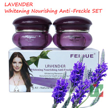 wholesale 2014 New Arrival FEIQUE lavender whitneing nourishing anti freckle facial cream 20g+20g 50sets/lot