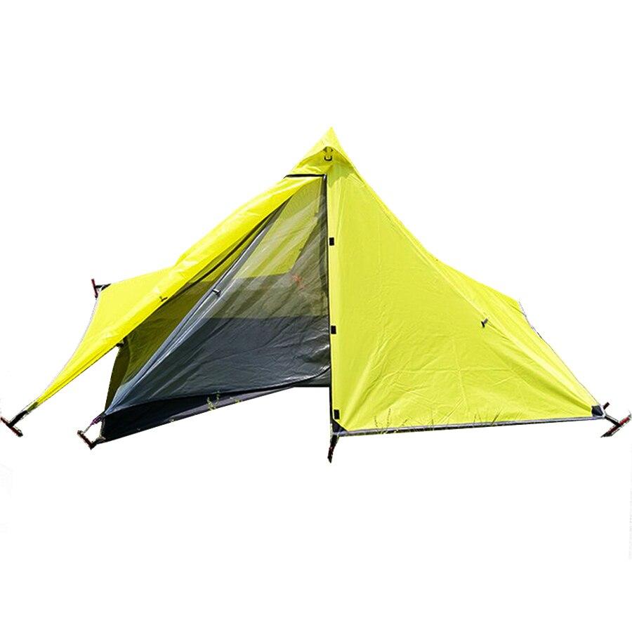 1.45kg Ultralight  Waterproof Two-Layer No-pole UL Pyramid Tent