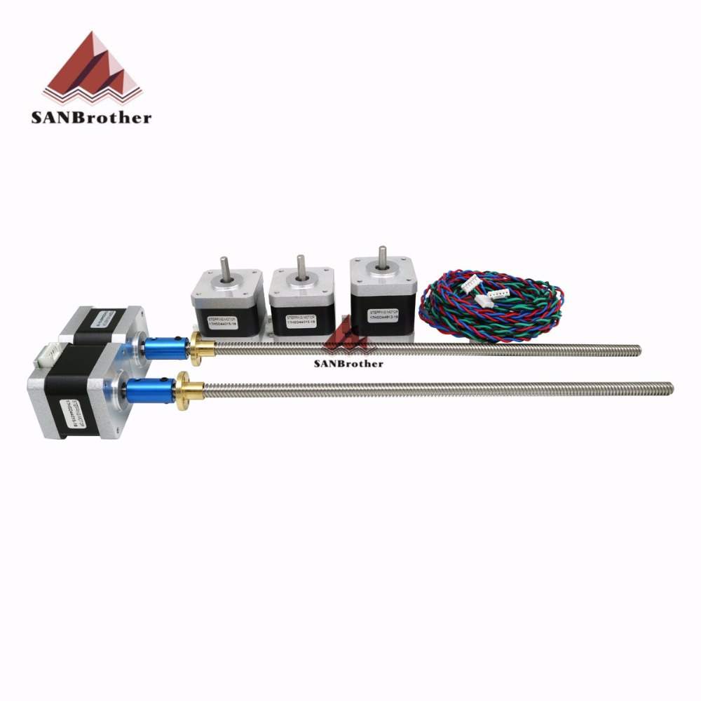 Reprap Prusa i3 MK2 MK2 MK3 3d imprimante 300mm Z moteur pas à pas avec Trapézoïdale Plomb Vis compatiable avec mini-Rambo
