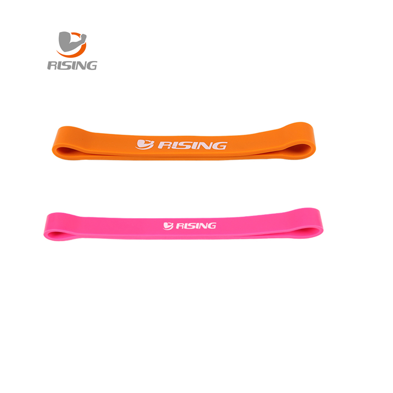 Pink and orangecombination fitness equipment cross fit loop latex band body gym training powerlifting pull up free shipping