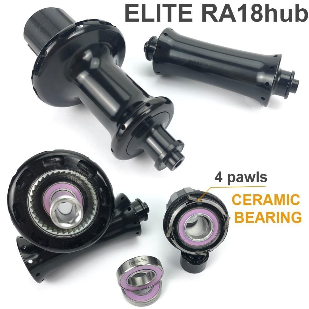 Image 4 - Elite SLT Road Carbon Wheels Aero A1 Brake YAn RA18 Ceramic Bearing Hub Pillar1423 SpokeTubular Clincher Tubeless 700C WheelsetBicycle Wheel   -