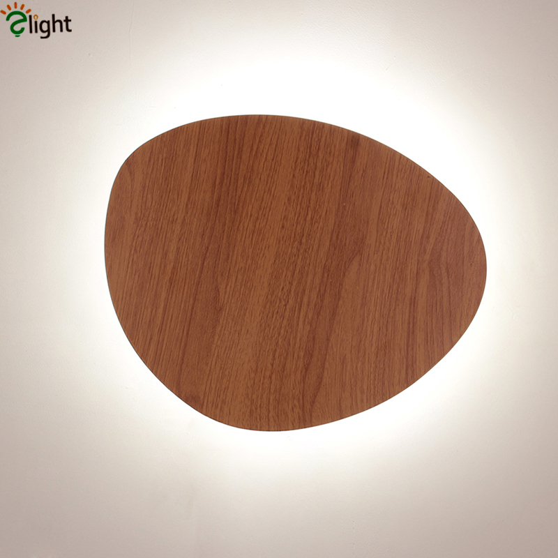Big Discount Irregular Post Modern Lustre Led Wall Lamp Black White Wood Color Diy Style Wall Lamp For Corridor Bedroom free shipping modern dining table designs discount lamp shades