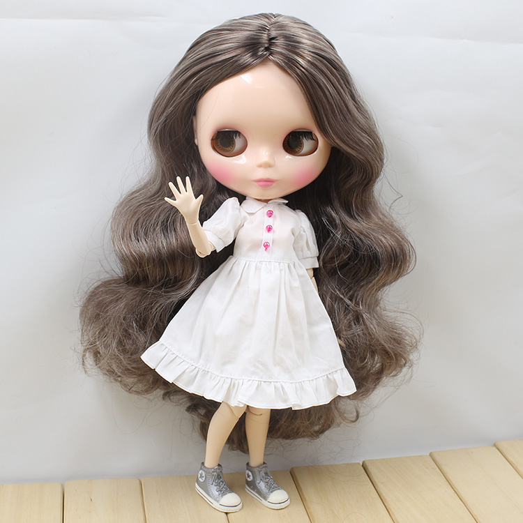 все цены на ICY factory Nude Blyth Doll doll bjd neo 280BL88000222 joint body gray mix brown wavy hair centre parting 1/6 30cm