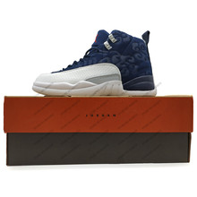 e39f73a4bc83c3 Jordan 12 XII Men Basketball Shoes Vachetta Gym Red GS Barons Playoff White  Athletic Outdoor Sport