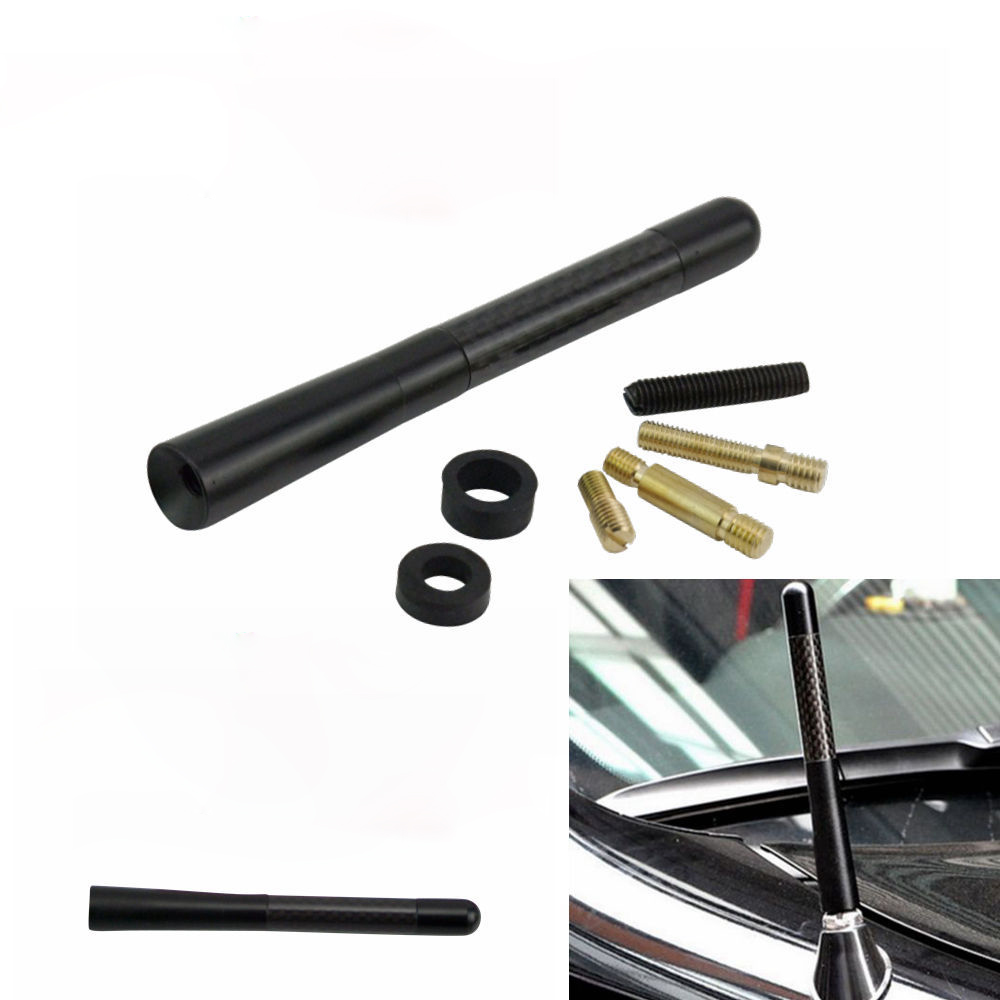 Car styling car roof modified antenna fm radio antenna universal car signal carbon fiber antenna radio metal receiving aerial