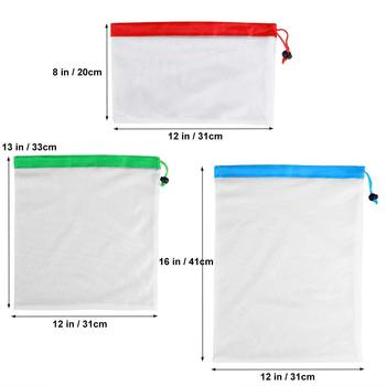 DCOS 12pcs Reusable Mesh Produce Bags Washable Eco Friendly Bags for Grocery Shopping Storage Fruit Vegetable Toys 6