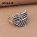 Authentic 925 Sterling Silver Light As A Feather Ring Engagement Ring DIY Jewelry for Women Compatible with Pandora Ring Jewelry