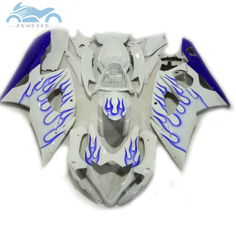 Upgrade your <font><b>Fairing</b></font> kits for <font><b>Suzuki</b></font> GSXR 1000 2005 2006 <font><b>GSXR1000</b></font> <font><b>fairings</b></font> set 05 06 GSX R1000 K5 <font><b>K6</b></font> blue flames bodywork KP16 image