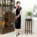 New Arrival Fashion Long Women Embroidery Cheongsam Dress Chinese Ladies Qipao Novelty Sexy Dress Size M L XL XXL 3XL F103105