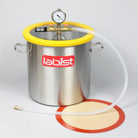 5.5Gallon (21Liter)300mm 11.8 Stainless Steel Vacuum Degassing Chamber for Concentrates, Silicones & Resins , Polycarbonate Lid