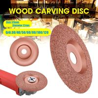 Tungsten Carbide Shaping Dish 125mm Diameter 22mm Bore Wood Shaping Disc Wood Carving Disc Angle Grinder Disc