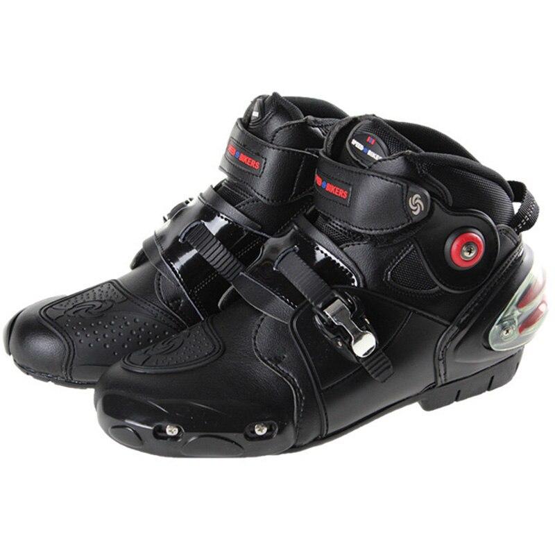 2018 mężczyźni Pro-buty motocyklowe buty motocyklowe damskie motocross buty jeździeckie rozmiar 40-47 czarny A9003