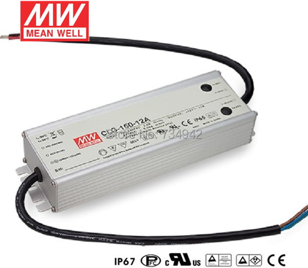 MEANWELL 24V 150W UL Certificated CLG series IP67 Waterproof Power Supply 90-295VAC to 24V DC nes series 12v 35w ul certificated switching power supply 85 264v ac to 12v dc