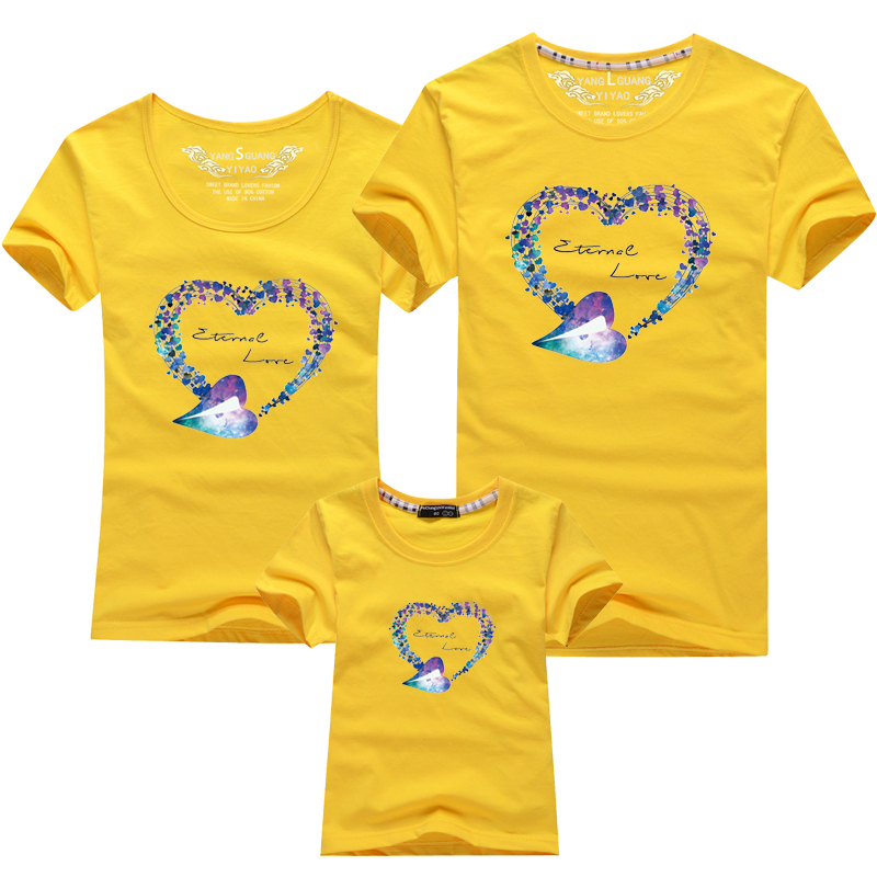 HTB1oqNNPFXXXXc XXXXq6xXFXXXW - Mommy and Me Clothes Family Look Summer LOVE Ggarland Pattern Family T Shirt Father and Son Clothes Family Matching Outfits