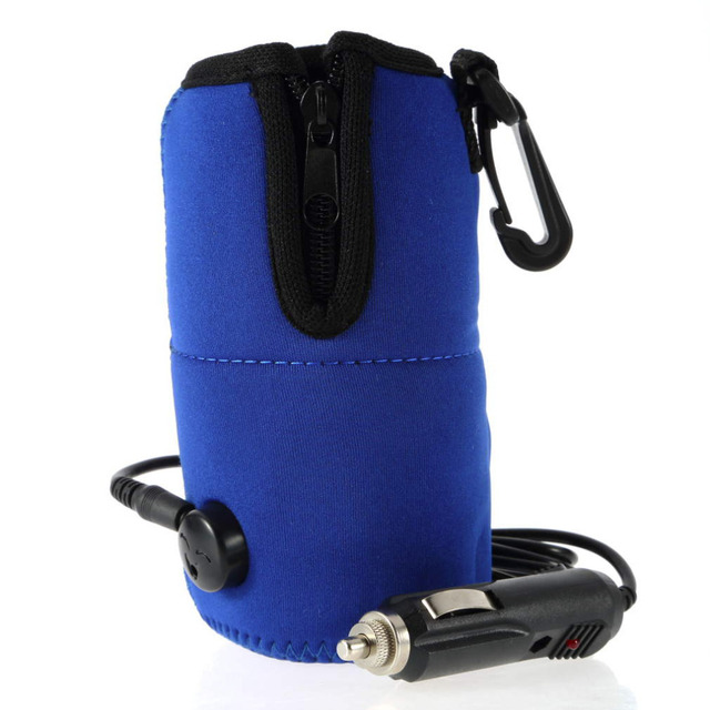 Blue Baby Insulation Milk Bottle High Quality 12V Food Water Drink Bottle Cup Warmer Heater Car Auto Travel Baby