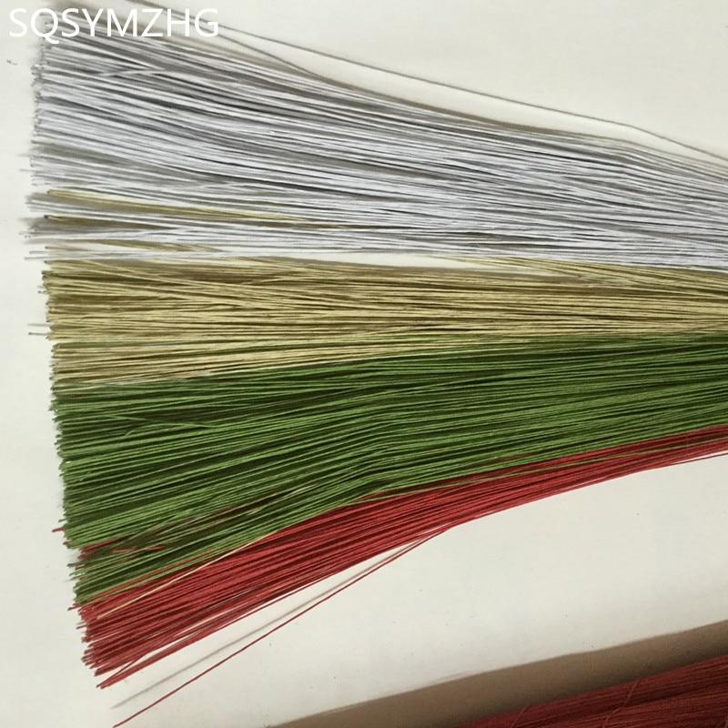SQSYMZHG 50 шт. #26 бумажная проволока 0,45 мм/0,0177 дюйма диаметр 40 см длинная железная проволока используется для изготовления нейлоновых чулок и цв...