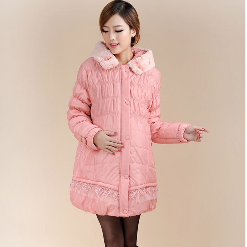 Pregnant women cotton clothing women long paragraph Korean loose large size cotton jacket jacket winter coat dendy