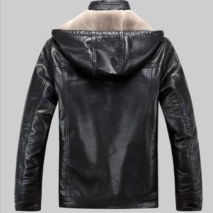 Image 4 - 2019 Yeni Erkek Hakiki Deri Ceket koyun derisi erkek Kapüşonlu Ceket deri kışlık ceketler erkek EMS Ücretsiz Kargo Artı Boyutu M 5XL