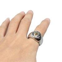 ง่ายๆสั้นๆการออกแบบข้ามวงกว้างแหวนผู้ชายสูงขัดไท
