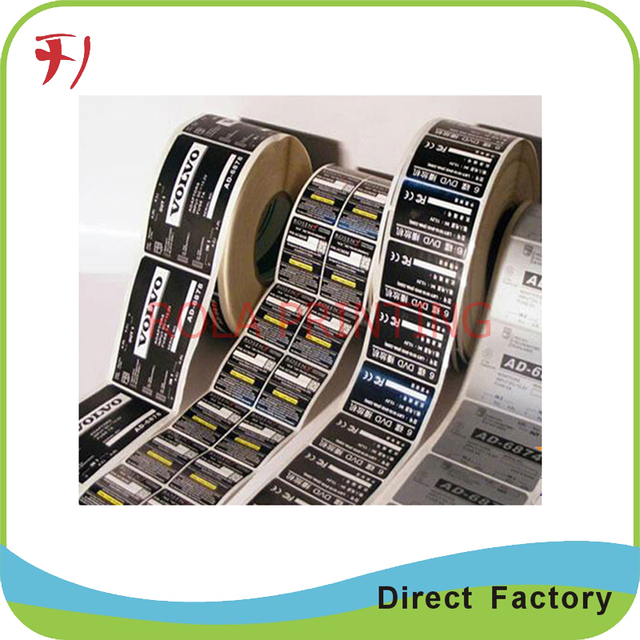 Direct manufacture custom adhesive pvc pet label sticker printing glossy waterproof sticker roll color