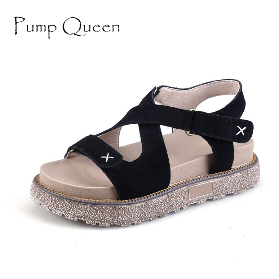 New Arrival Summer Women Gladiator Sandals Rome Style Comfort Flats Shoes Vintage Platform Casual Sandals gladiator sandals 2017 summer style comfort flats casual creepers platform pu shoes woman casual beach black sandals plus us 8