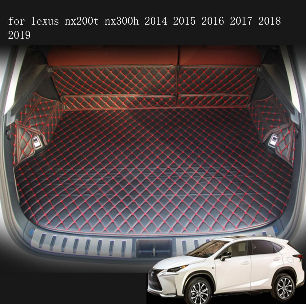 fiber leather car trunk mat for <font><b>lexus</b></font> <font><b>nx200t</b></font> nx300h 2014 <font><b>2015</b></font> 2016 2017 2018 2019 cargo liner car <font><b>accessories</b></font> image