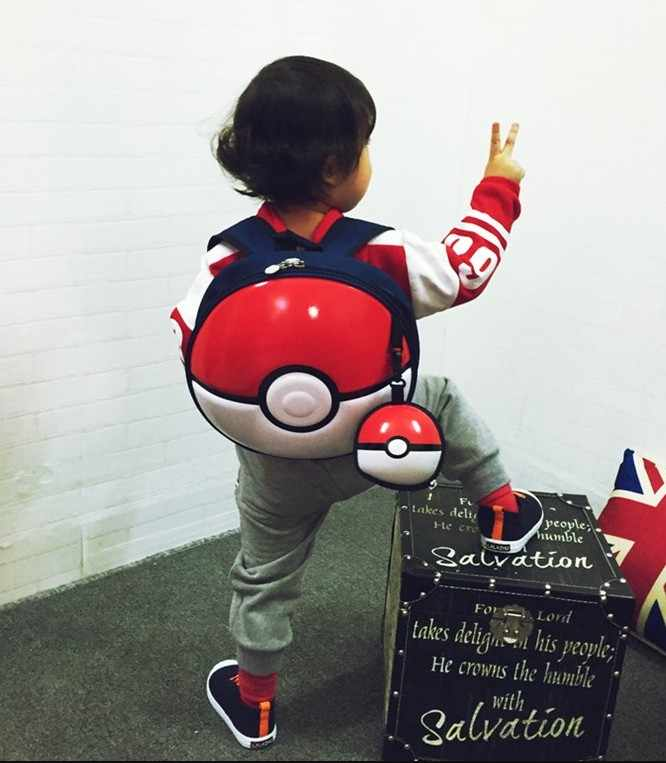 japan style  round Ball  pvc backpack shield bag cosplay use Children's gift child baby use