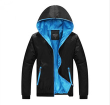 Frühling Neue Herren-sportbekleidung Jacke Männer Mode Dünne Windjacke Mit Kapuze Reißverschluss Mäntel Outwear Herrenbekleidung Lässige Parkas