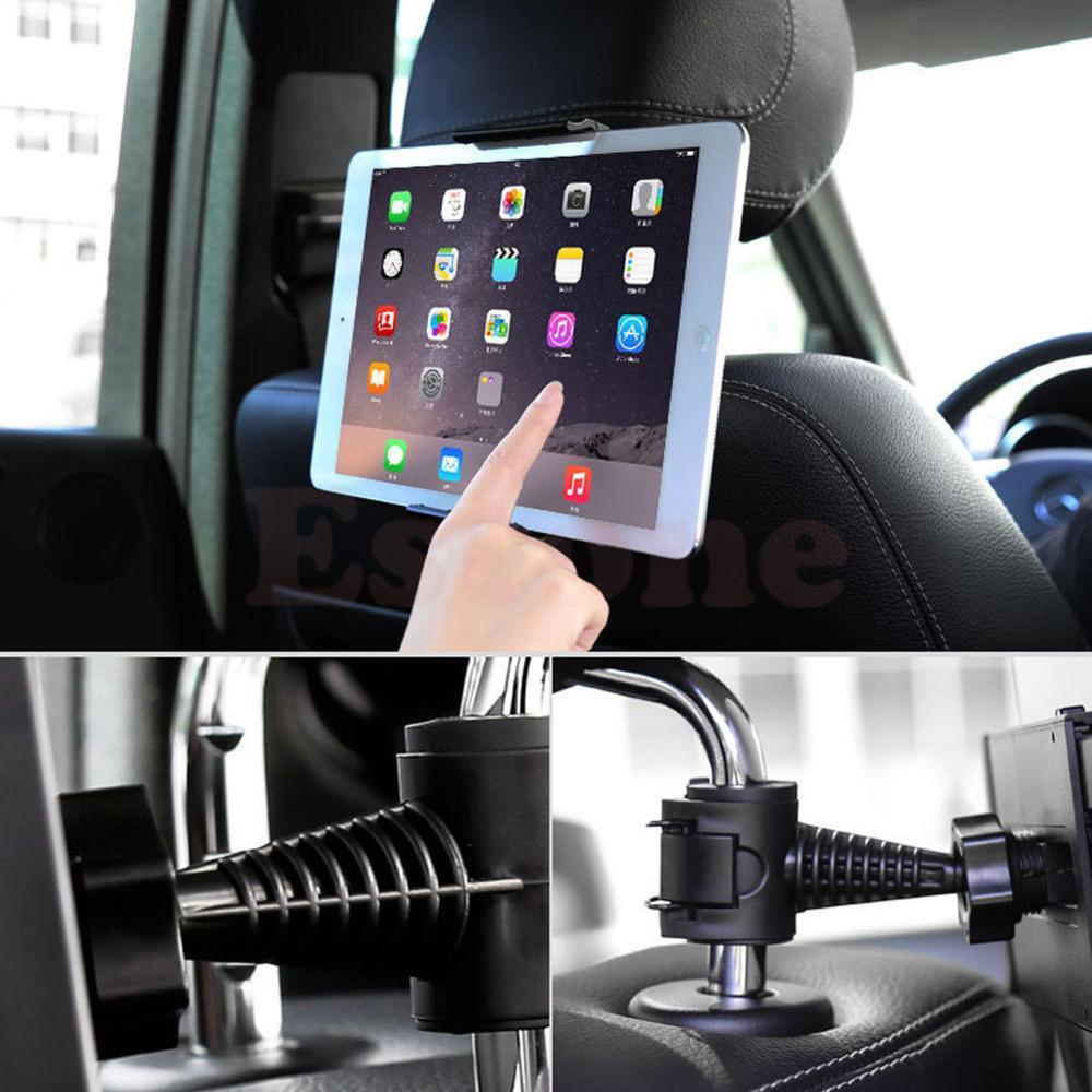 new universal back 360 degree rotation adjustable car seat headrest mount holder stand for. Black Bedroom Furniture Sets. Home Design Ideas