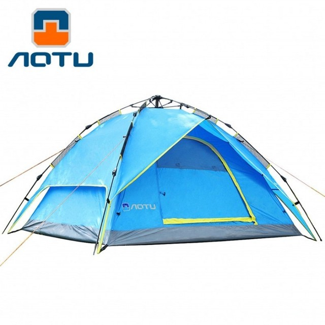 Multi-function Four Seasons Tent 3-4 Person Automatic Pop Up Tents Waterproof for Outdoor Sports Camping Hiking Travel Tents